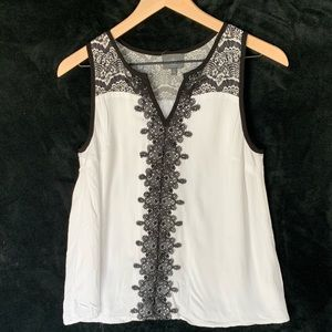 Sleeveless top with lace detailing